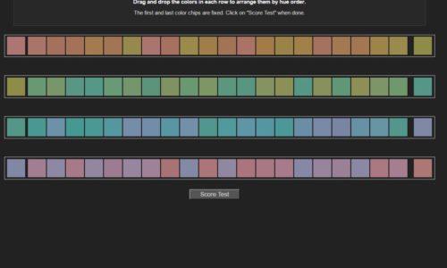 Online Colour Test Challege