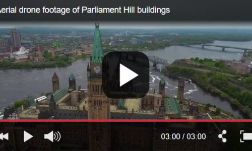 Aerial Drone Footage of Ottawa`s Iconic Landmarks