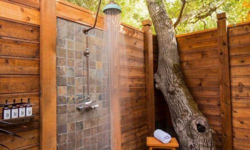 Open Air Shower Spaces
