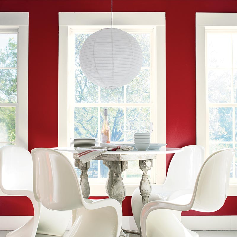 Colour of the year 2018 sherwin williams benjamin moore for Dining room paint colors 2018