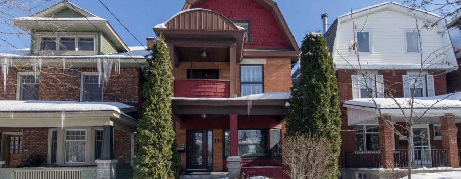 Ottawa Duplex for Sale <br>Hintonburg <br>133 Bayswater Avenue <br>$850,000